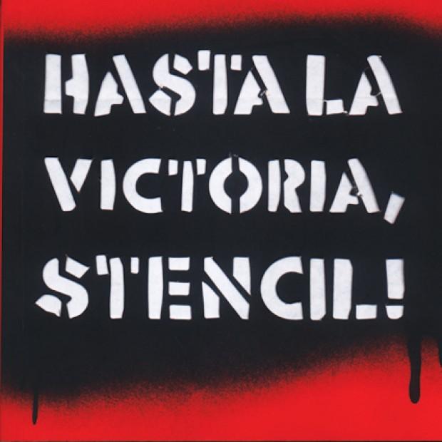 Portada Hasta la victoria, stencil!