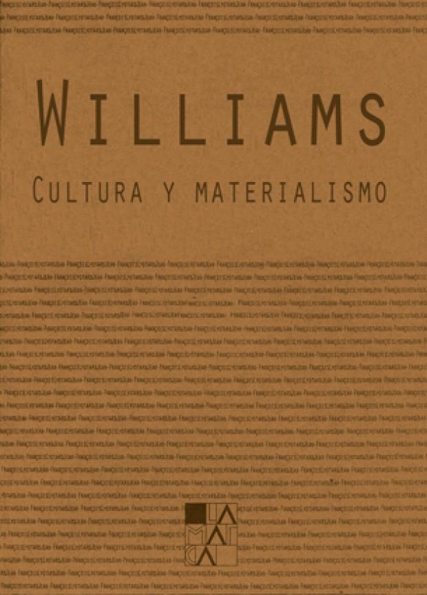 Portada Cultura y materialismo