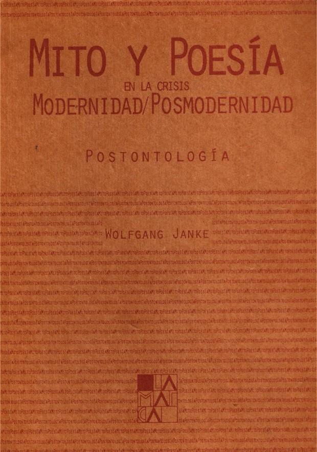 Portada Mito y poesía en la crisis modernidad / posmodernidad