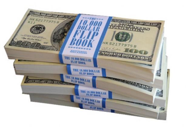 Portada 10.000 dollar flip book